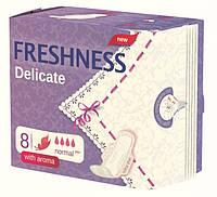 Гигиенические ультратонкие прокладки «Freshness» Delicate Normal 8шт