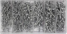 Заклепки алюминиевые YATO Ø=2.4, 3.2, 4, 4.8 мм х 6.4 мм 400 шт YT-36420