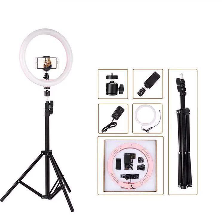 Кільцевий світло (комплект), професійна кільцева світлодіодна LED лампа для макіяжу, студії (Ø 30 см)
