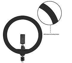 Кільцевий світло (комплект), професійна кільцева світлодіодна LED лампа для макіяжу, студії (Ø 30 см), фото 2