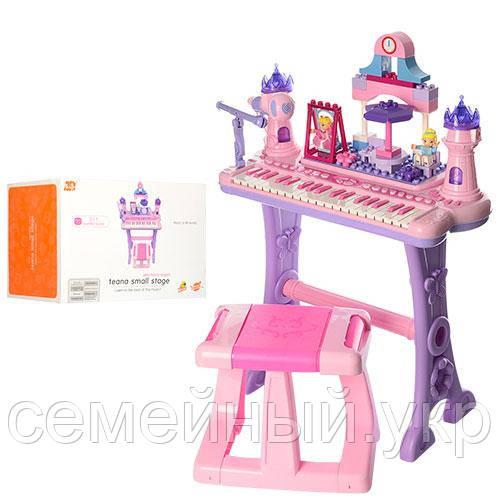 Детский синтезатор. Микрофон. Звуковые эффекты. Функция записи/воспроизведения. Bambi Princess (88037)