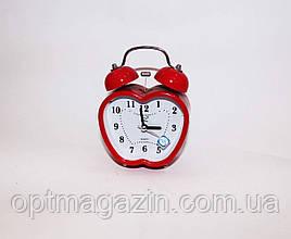 """Годинник будильник """"яблуко"""" кварцові"""