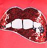"""Пижама  детская для девочки теплая розовая  """"lips"""" от 6 до 10 лет(116;122;128;134;140), фото 4"""