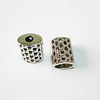 Наконечник для шнура, пластик, никель (1000шт)