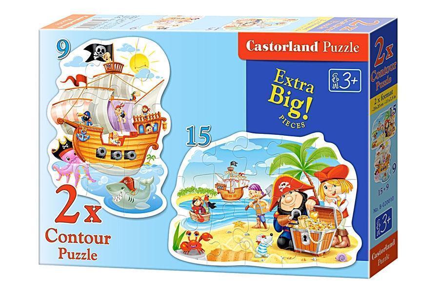 Пазл Castorland 2 в 1 Пираты 010 tsi24415, КОД: 287731