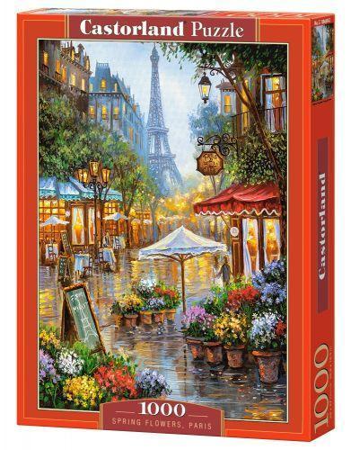 Пазл Castorland Улочки Парижа Spring flowers Paris 1000 элементов С-103669 tsi44640, КОД: 287834