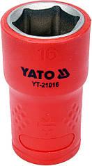 """Головка торцевая шестигранная диэлектрическая YATO 3/8"""" М16 х 45/28 мм VDE до 1000 В YT-21016"""