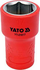 """Головка торцевая шестигранная диэлектрическая YATO 3/8"""" М17 х 45/28 мм VDE до 1000 В YT-21017"""