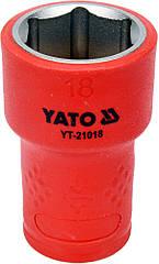 """Головка торцевая шестигранная диэлектрическая YATO 3/8"""" М18 х 47/30 мм VDE до 1000 В YT-21018"""