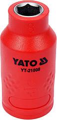 """Головка торцевая шестигранная диэлектрическая YATO 3/8"""" М8 х 45/28 мм VDE до 1000 В YT-21008"""