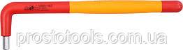 Ключ шестигранный Г-образный диэлектрический YATO HEX 6 x 47 x 180 мм VDE до 1000 В YT-21123
