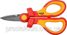 Ножницы универсальные диэлектрические до 1000 В YATO 160 мм YT-21200