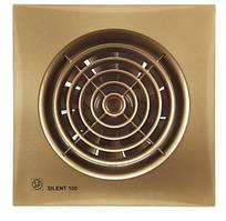 Вентилятор бытовой осевой S&P SILENT-100 CZ GOLD *230V 50*