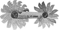 Резьбомер метрический 60° YATO 0.25 - 6 мм 24 шаблона YT-29980