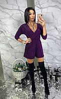 Комбинезон ромпер с шортами женский стильный с из люрекса Dbl1273, фото 1