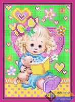 Схема для вышивки бисером - Девочка с книгой, Арт. ДБч5-018