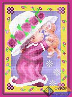 Схема для вышивки бисером - Модница с котенком , Арт. ДБч5-026