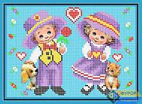 Схема для вышивки бисером - Детская любовь, Арт. ДБч5-028
