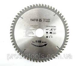 Диск пильный по алюминию YATO 200 х 30 х 3.0 х 2.2 мм 60 зубцов R.P.M до 8000 1/мин YT-6091