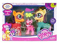 Набор Pony Май литл Пони -  3 лошадки, музыка, свет, звук-  супер подарок фанаткам мультфильма о Пони