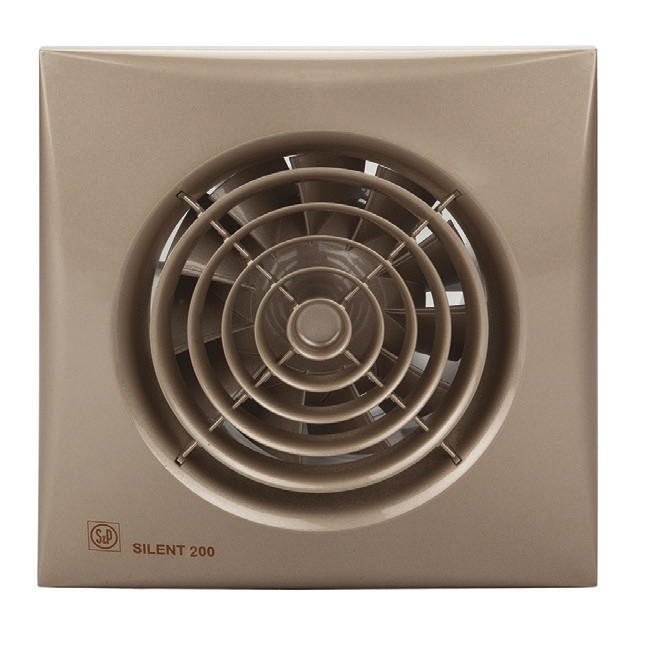 Вентилятор бытовой осевой S&P SILENT-200 CZ CHAMPAGNE (230V 50)