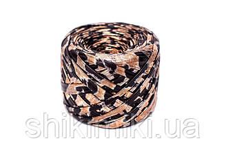 Трикотажная пряжа Maccaroni Metalliс, цвет Леопардовый