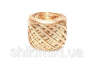 Трикотажная пряжа Maccaroni Metalliс, цвет золото