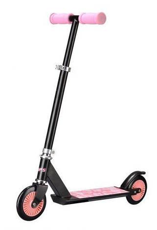 Детский стальной самокат Cups, двухколесный 120мм, скутер розовый, фото 2