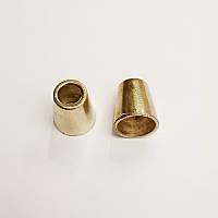 Наконечник для шнура, металл, золото (1000шт)