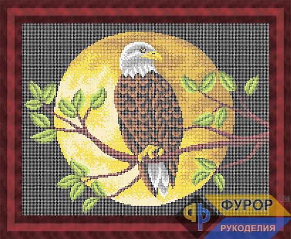 Схема для вишивки бісером картини Орел на гілці (ЖБп3-132)