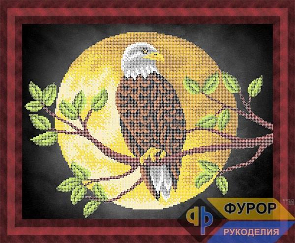 Схема для вишивки бісером картини Орел на гілці (ЖБч3-133)