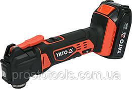 Mногофункциональный аккумуляторный инструмент (реноватор) YATO Li-Ion 18 В 2 Ач YT-82818