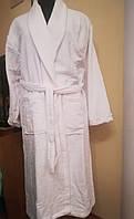 Махровый халат белый, для гостиниц, бань и саун 100% Хлопок, Турция