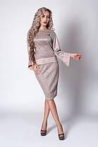 Жіночий костюм розміри 44,46,48,50,52 світло сірий, фото 2