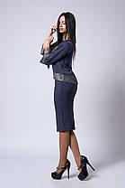 Жіночий костюм розміри 44,46,48,50,52 світло сірий, фото 3