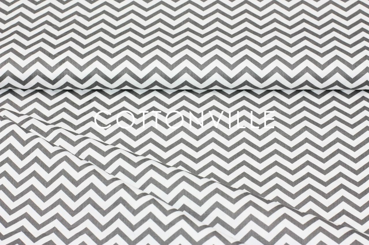 Сатин-твил Мелкие зигзаги графит