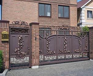 Кованые ворота, ограждения, перила, лестницы 11