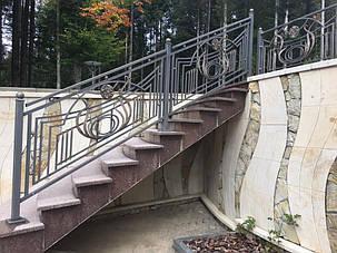 Кованые ворота, ограждения, перила, лестницы 12