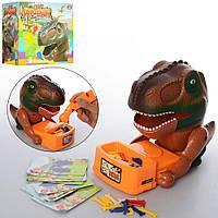 Интерактивная настольная игра 338-71 Опасный динозавр, фигурки, звук, Bad Dinosaur,