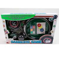 Настольная игра 88130B покер, рулетка, фишки, полотно, кубики, Покерный набор.