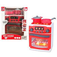 Бытовая техника 3229 (18шт) плита, 22см, звук, свет, посуда, на бат-ке, в кор-ке, 22-29-15см