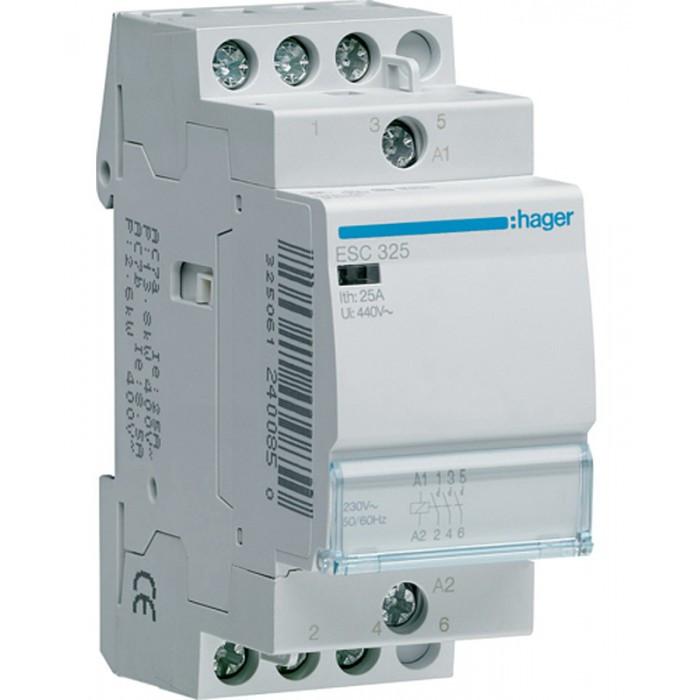 Контактор Hager 25A 3НО 230В ESC325