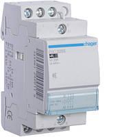 Контактор Hager 25A 3НО 230В бесшумный ESC325S