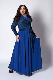 Пышное женское платье размер 52,54,56 електрик люрекс