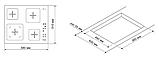 Pyramida CLEA 641 AT електрична варильна поверхня, склокераміка чорна, фото 5
