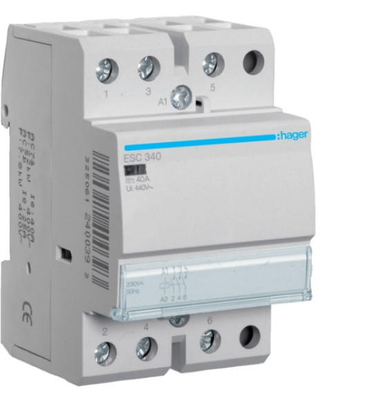 Контактор Hager 40A 3НО 230В ESC340