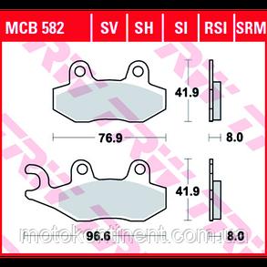 Мотоколодки для максі-скутерів TRW LUCAS MCB582SRM Suzuki AN400A Burgman/Peugeot/Kymco/, фото 2