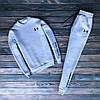 Мужской зимний спортивный костюм с флисом Under Armour серый Реплика