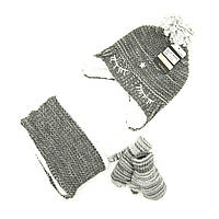 Шапка снуд перчатки Suve для 6 мес -2 года Серый TUR 007 star grey, КОД: 152807