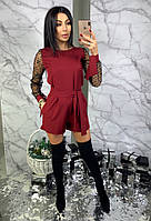 Комбинезон ромпер женский модный с шортами и рукавами из сетки со звездочками Dbl1274, фото 1